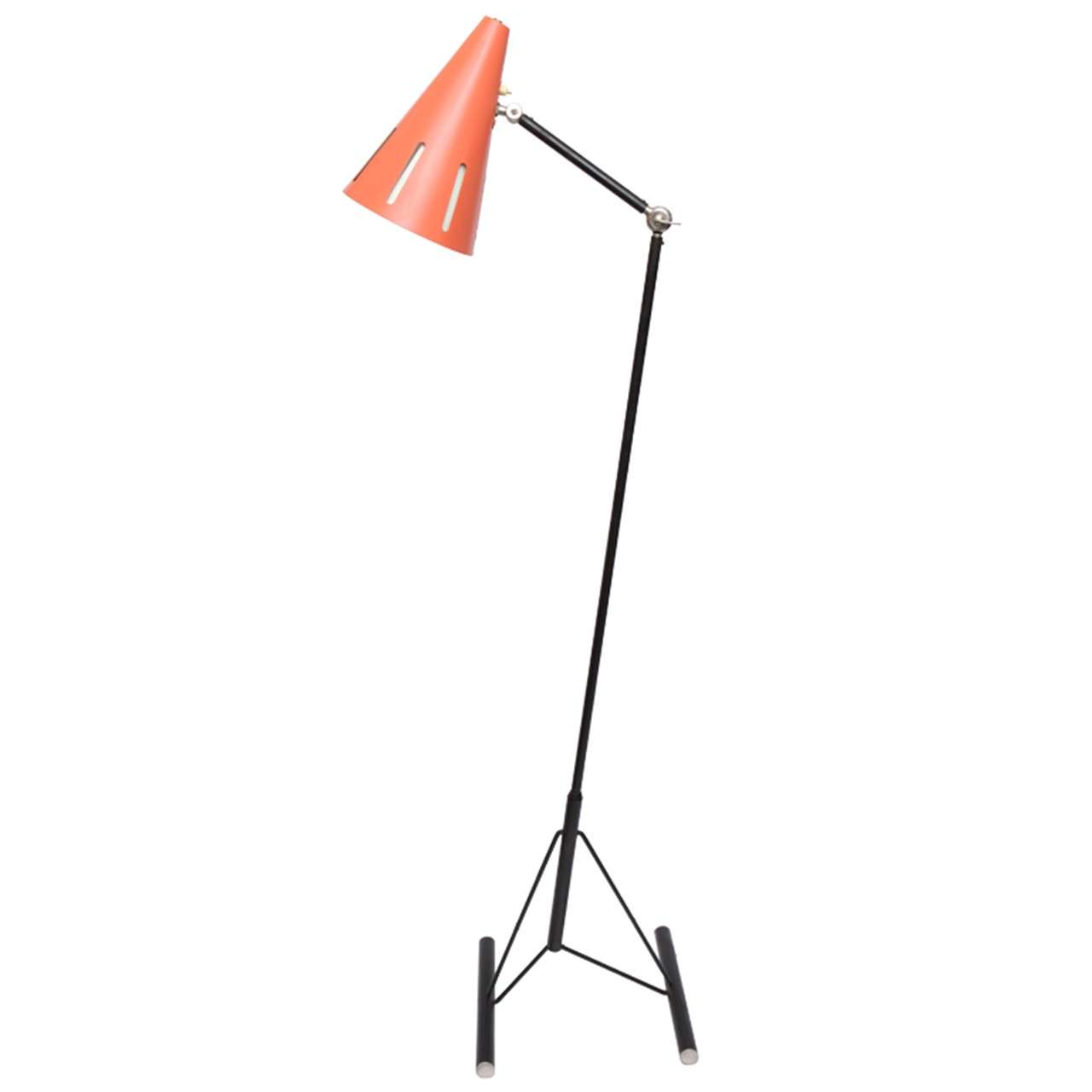 A 1950's Articulated Floor Lamp signed Hala Zeist at 1stdibs