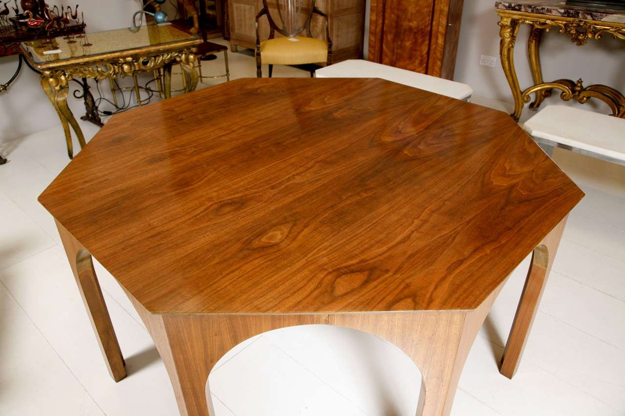 Octagonal dining centre table by t h robsjohn gibbings at for Dining at at t center