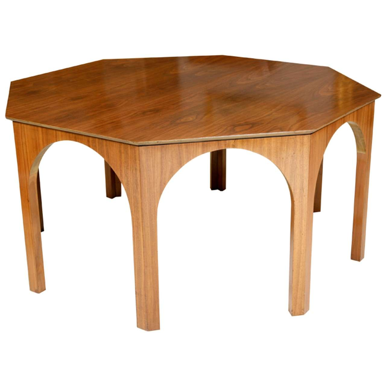Octagonal dining centre table by t h robsjohn gibbings at for Furniture centre table