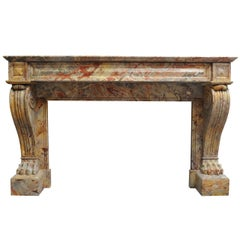 A 19th c. French Empire Sarrancolin marble fireplace / mantel piece, circa 1820