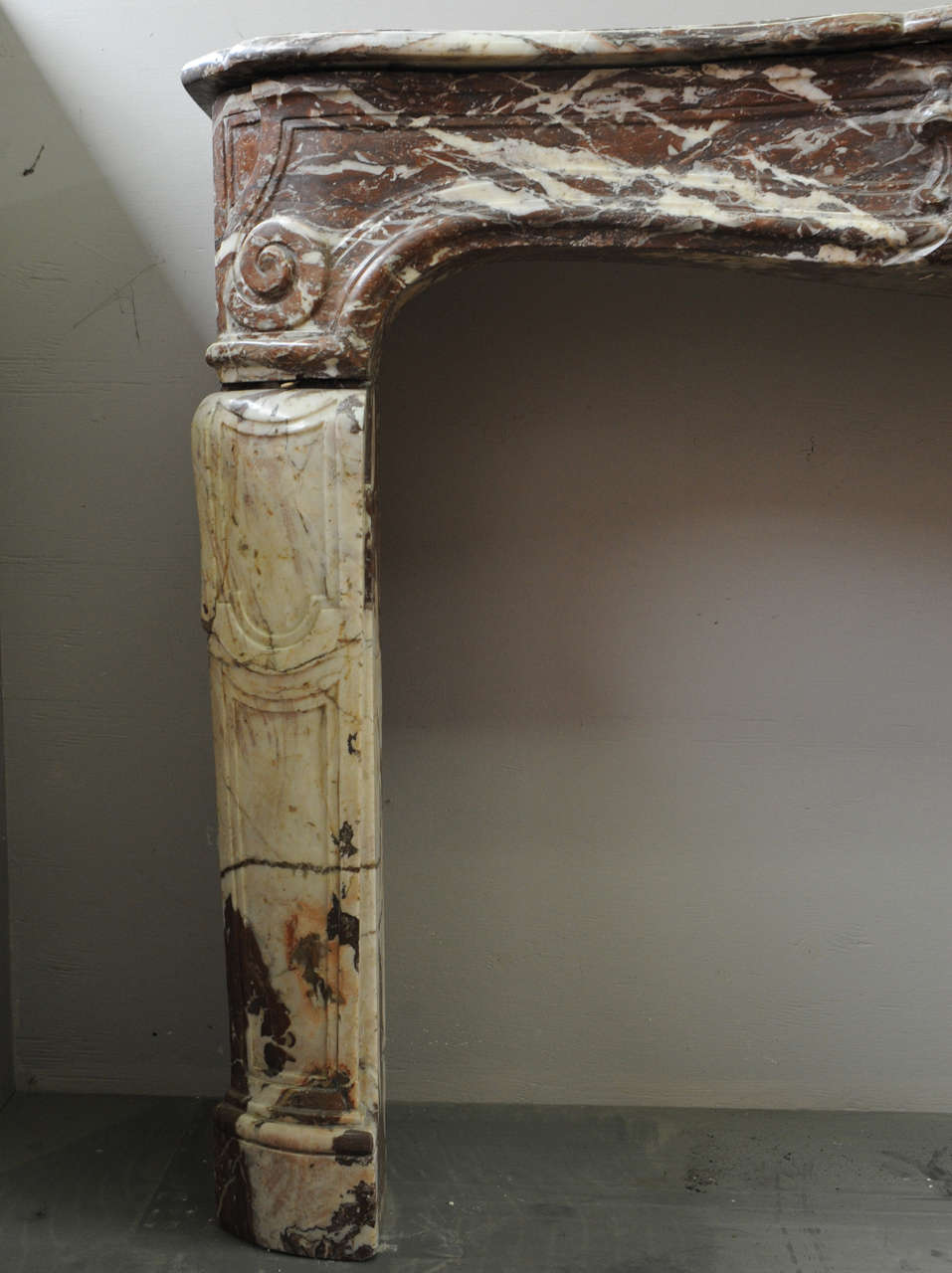 An 18th century french louis xiv marble fireplace mantel piece circa 1730 for sale at 1stdibs - Fireplace mantel piece ...