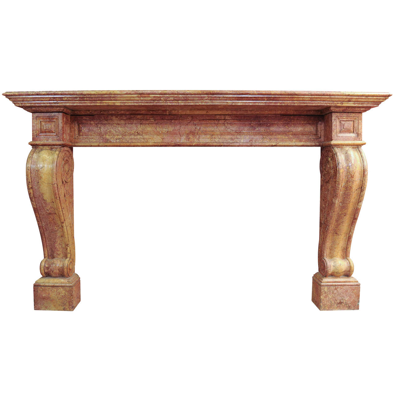A 19th century French Empire marble fireplace / mantel piece, circa 1820