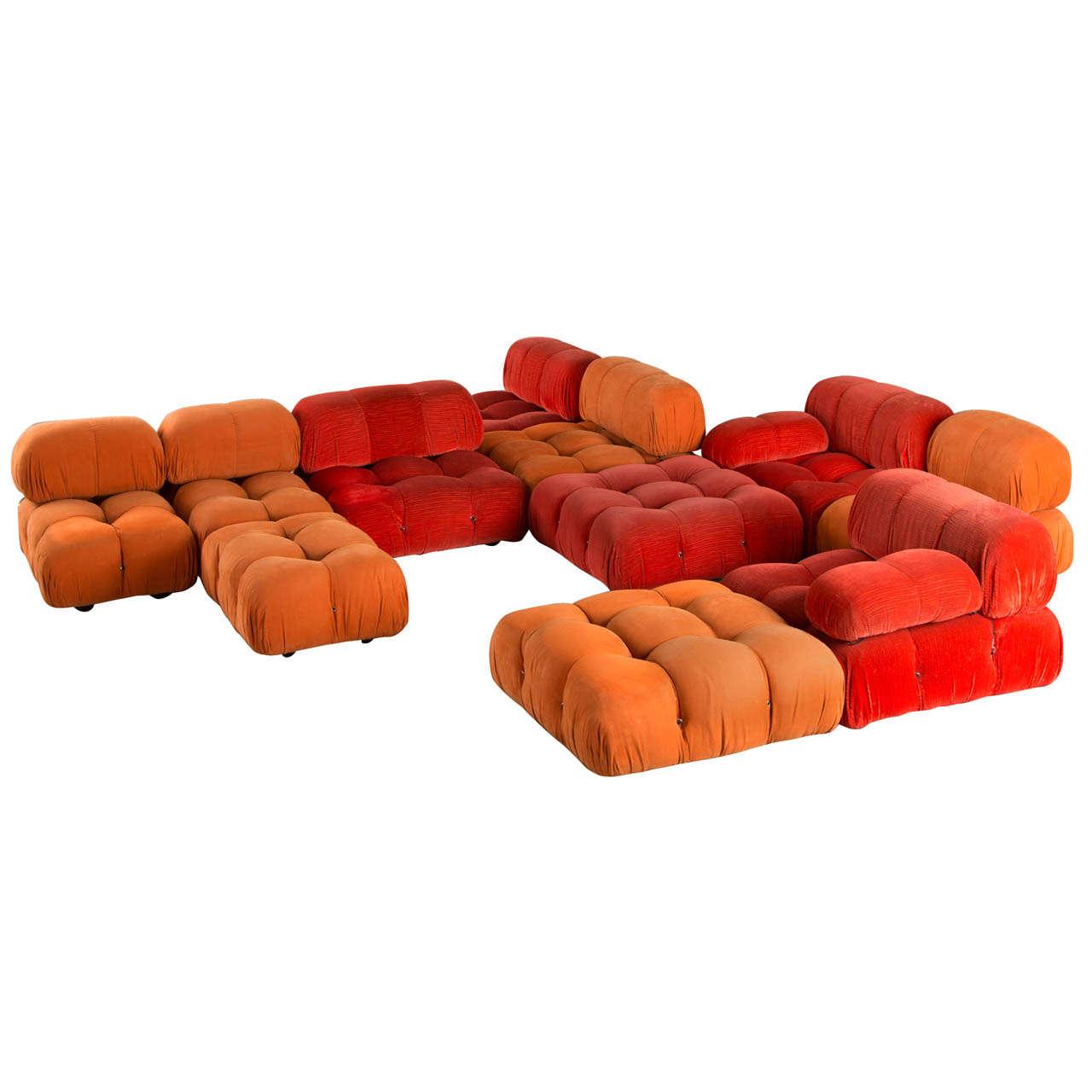 39 camaleonda 39 modular sofa by mario bellini for c b italia 1970 39 s at 1stdibs. Black Bedroom Furniture Sets. Home Design Ideas