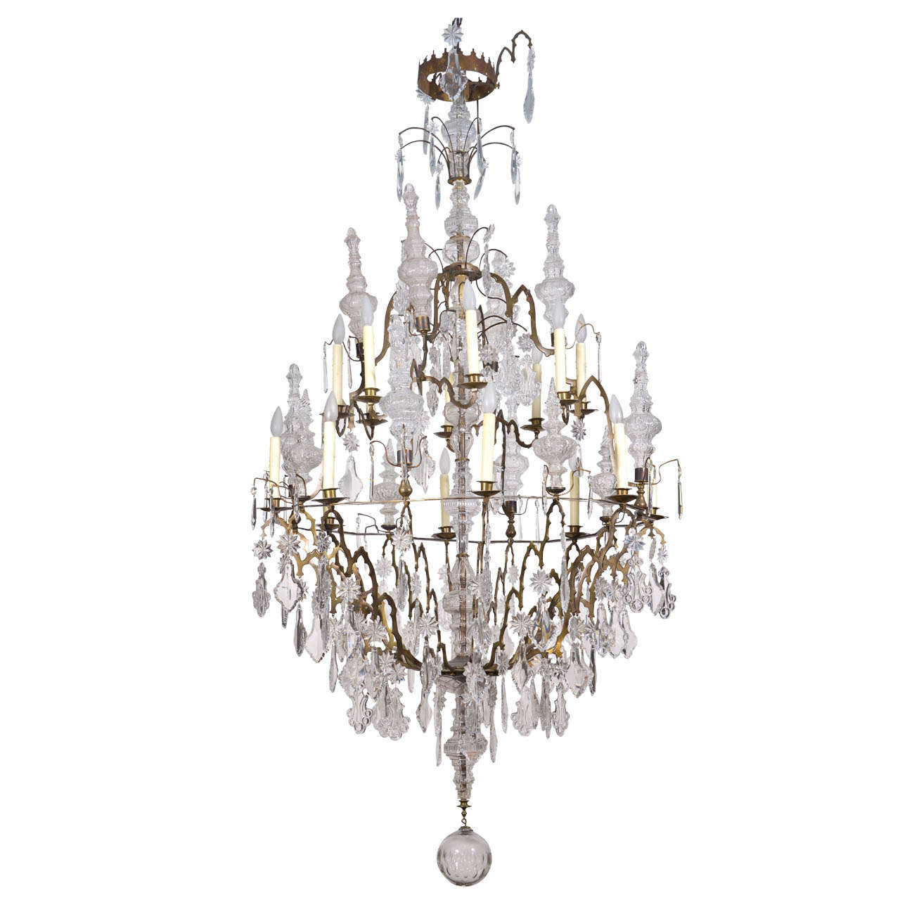 Amazing Crystal Chandelier At 1stdibs