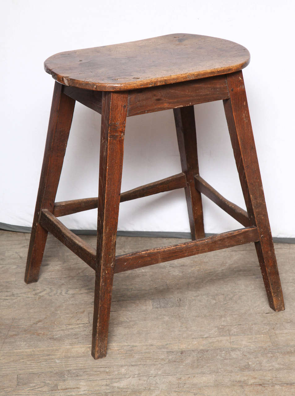 Rare, unusually large kitchen stool. 