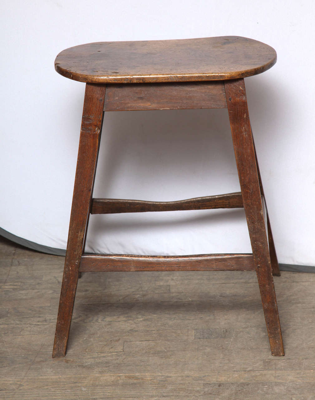 English Unusually Large Oval Kitchen Stool For Sale