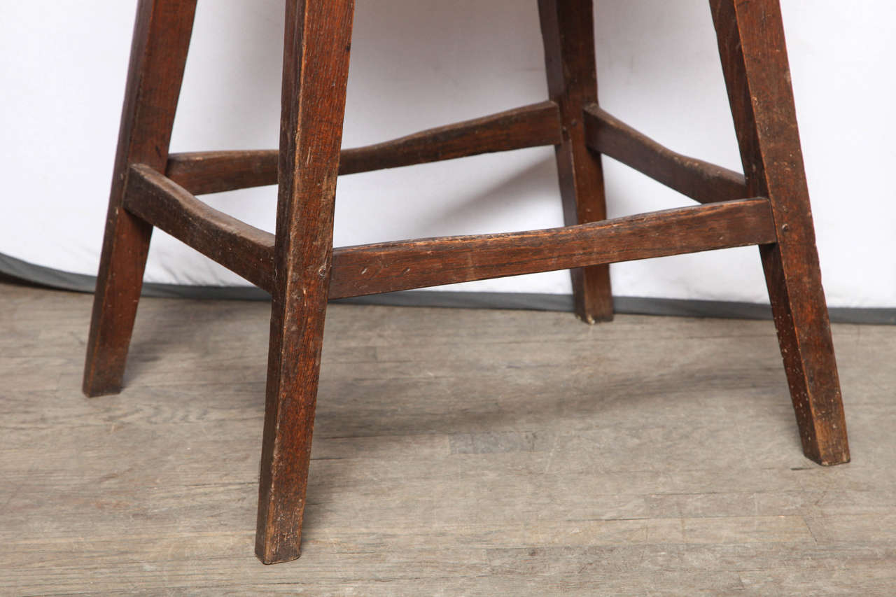 Unusually Large Oval Kitchen Stool In Excellent Condition For Sale In New York, NY