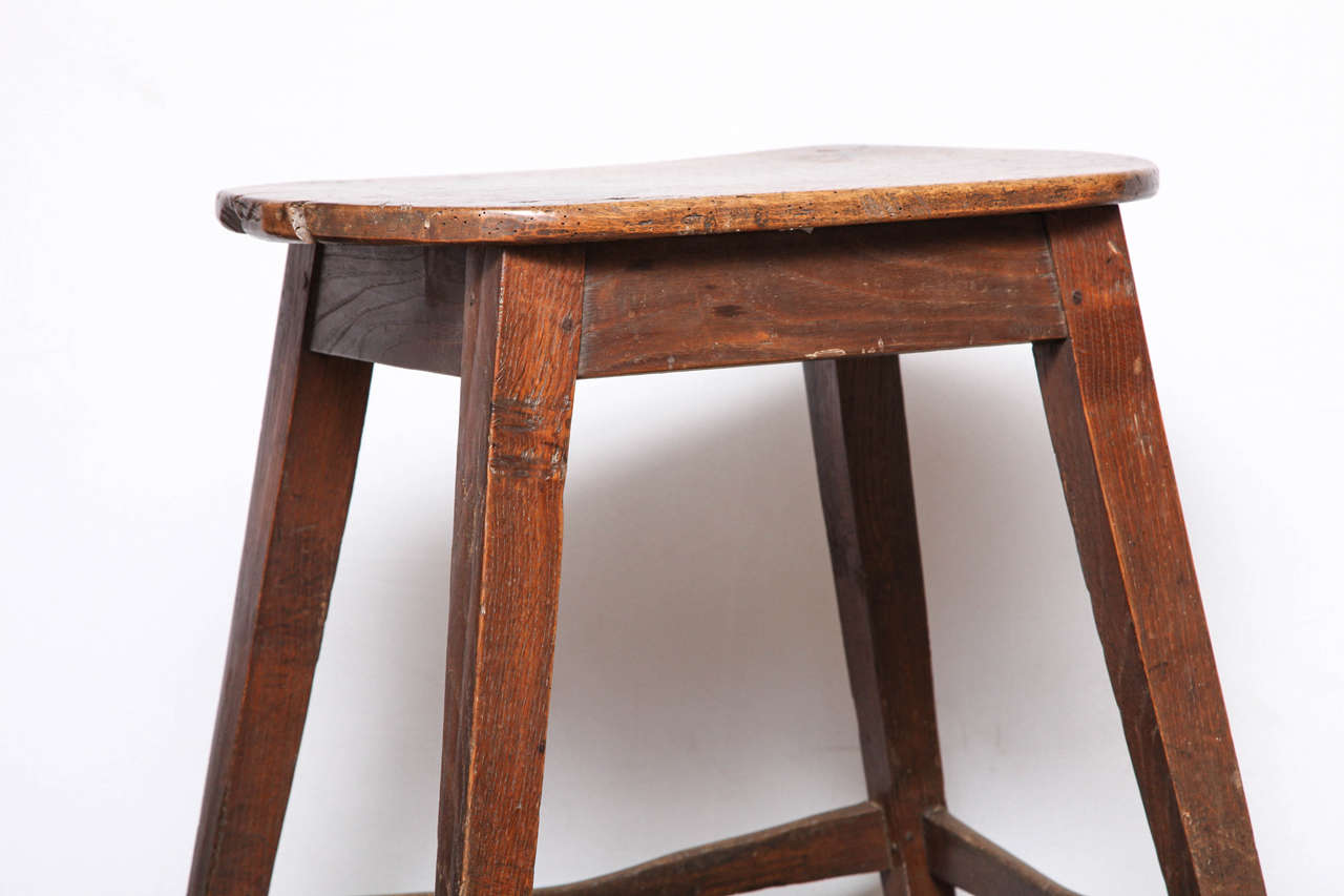 18th Century Unusually Large Oval Kitchen Stool For Sale