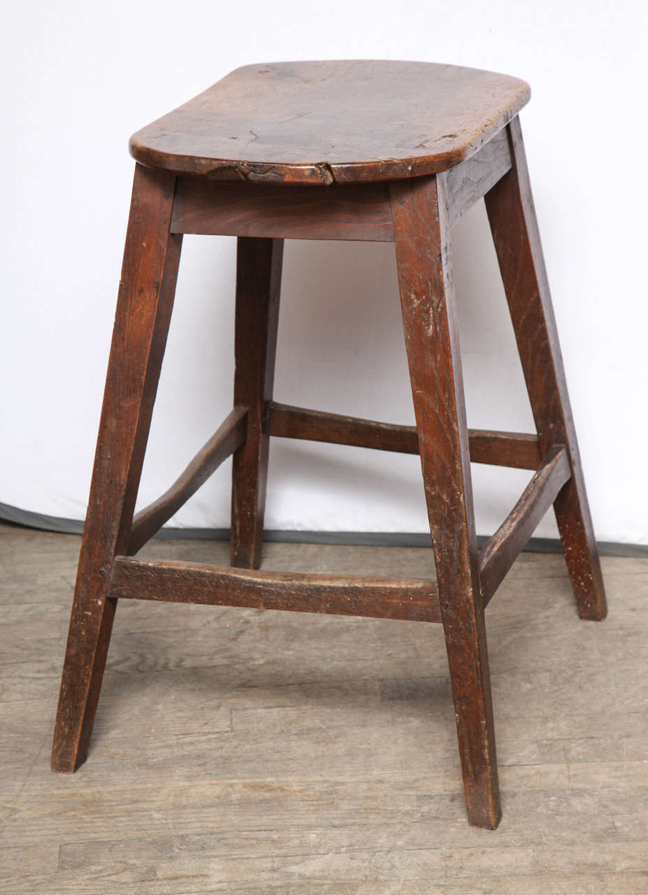 Unusually Large Oval Kitchen Stool For Sale 1