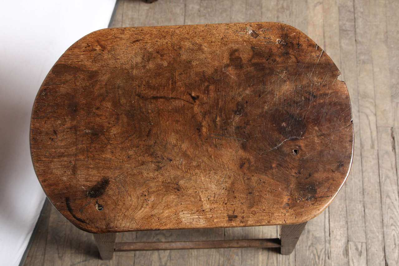 Unusually Large Oval Kitchen Stool For Sale 2