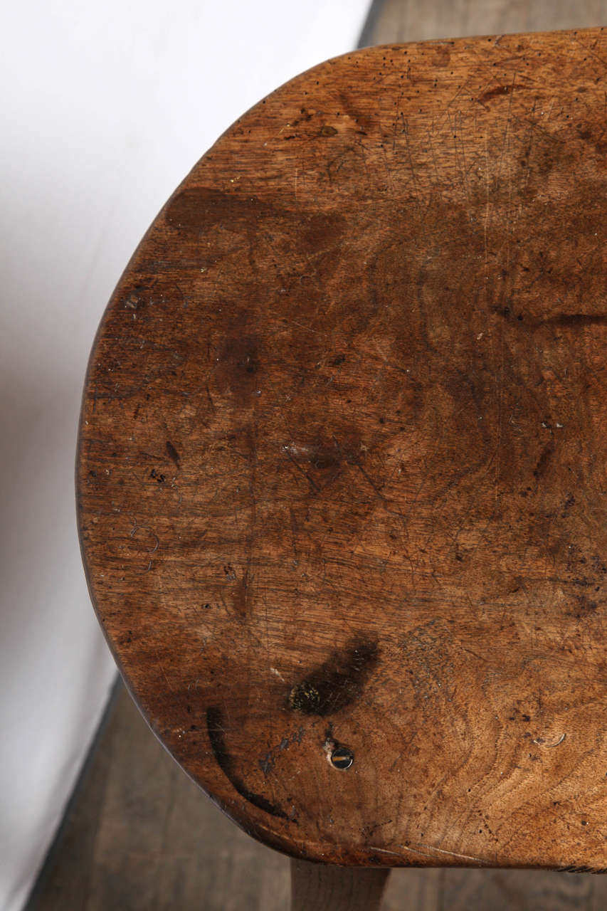Unusually Large Oval Kitchen Stool For Sale 3