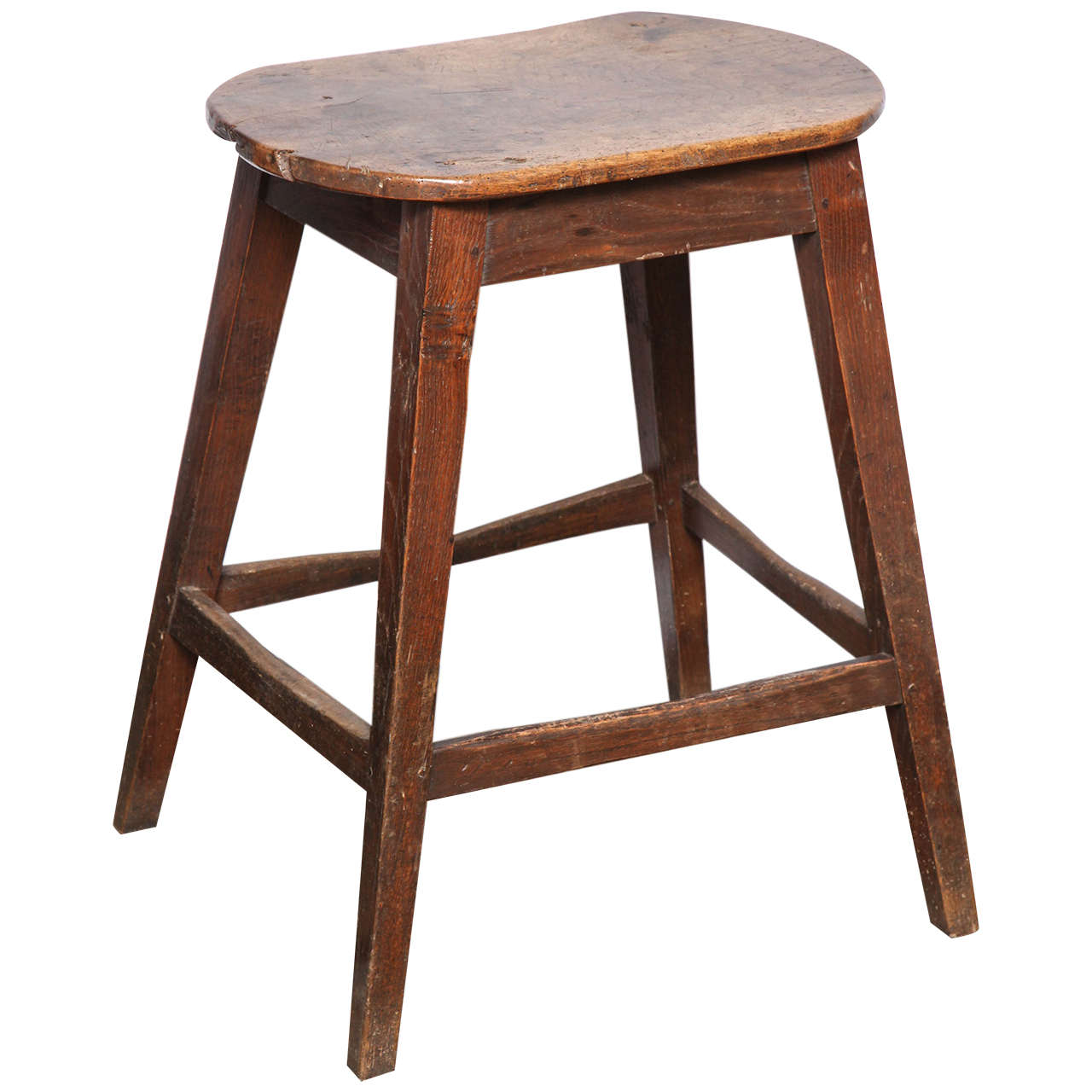 Unusually Large Oval Kitchen Stool For Sale