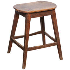 Unusually Large Oval Kitchen Stool