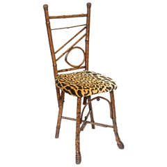 19th Century Ladies Bamboo Side Chair