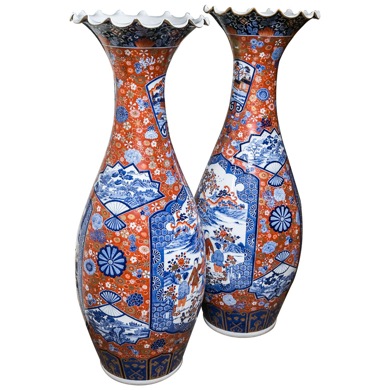 Large pair of late 17th c imari vases with cover for sale at 1stdibs large pair of imari floor vases reviewsmspy