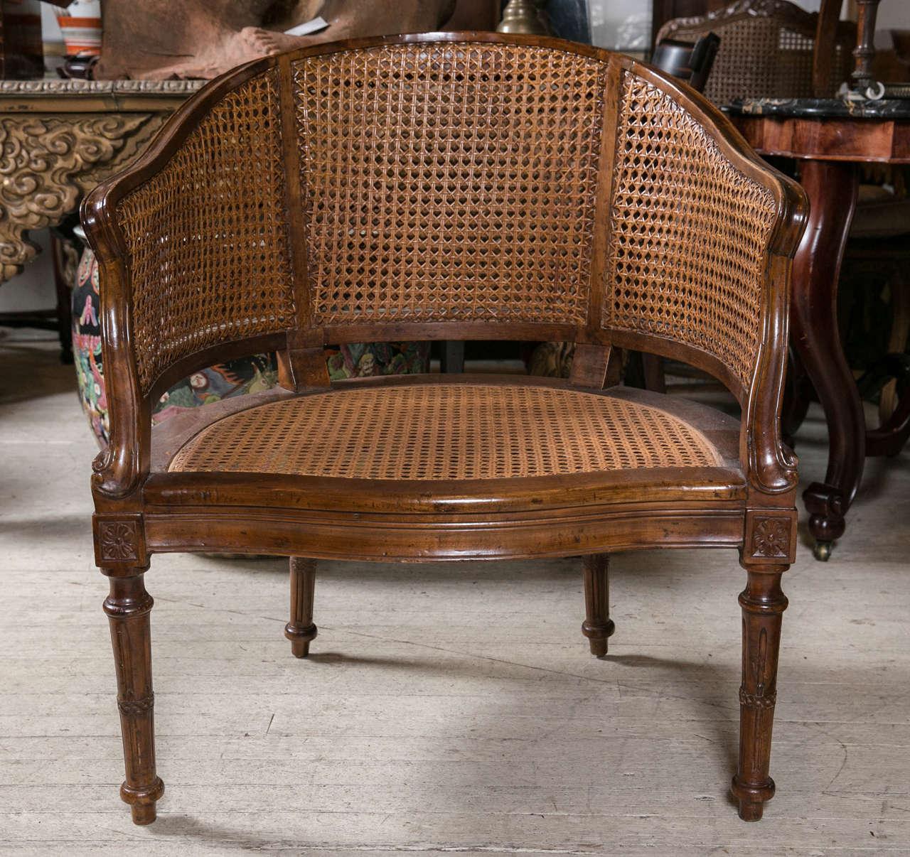 Antique louis xvi chair - Antique Louis Xvi Caned Desk Chair 2