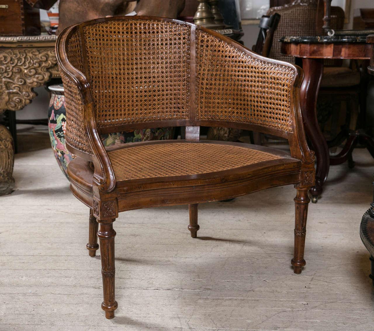 Antique louis xvi chair - Antique Louis Xvi Caned Desk Chair 3