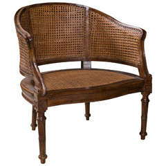 Antique Louis XVI Caned Desk Chair