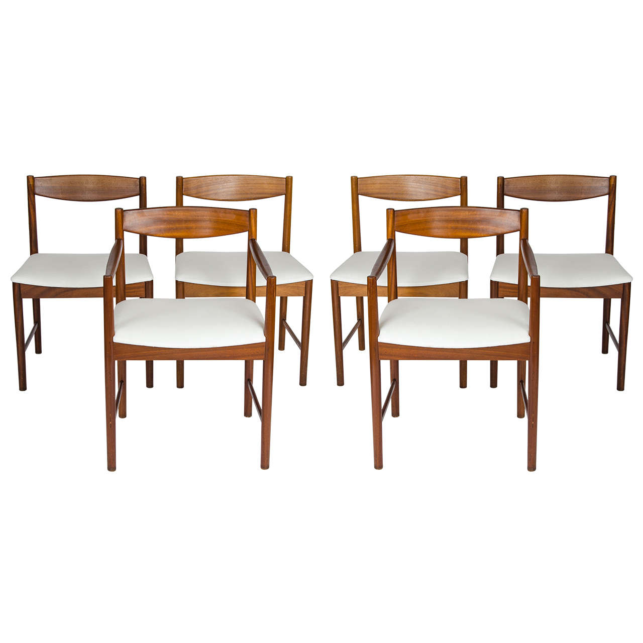 Scottish mcintosh dining table with six chairs at 1stdibs for Dining table and six chairs