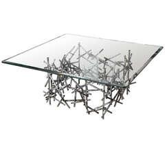 "Custom ""Angular Momentum"" Steel Coffee Table by Lou Blass"
