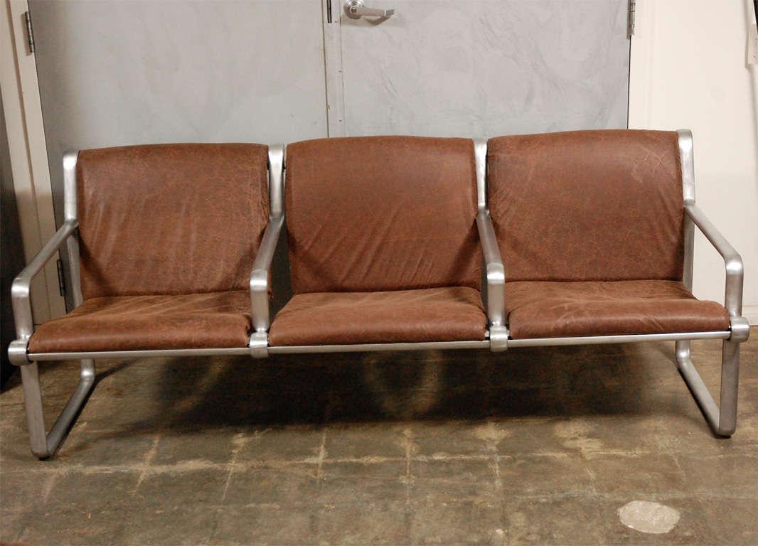 Hanna Morrison 3 Seat Airport Sling Sofa 2