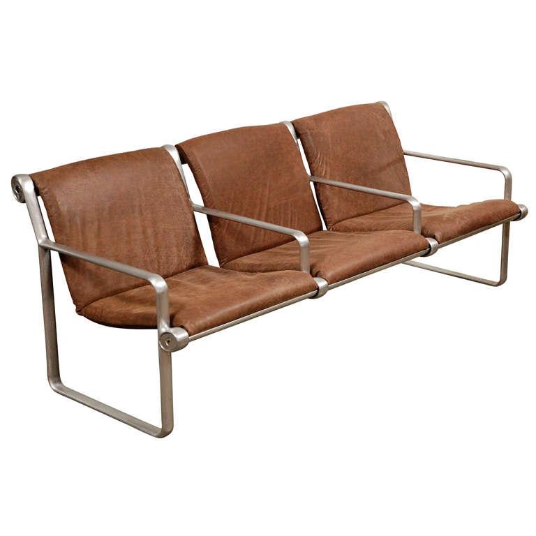 Hanna Morrison 3 Seat Airport Sling Sofa 1