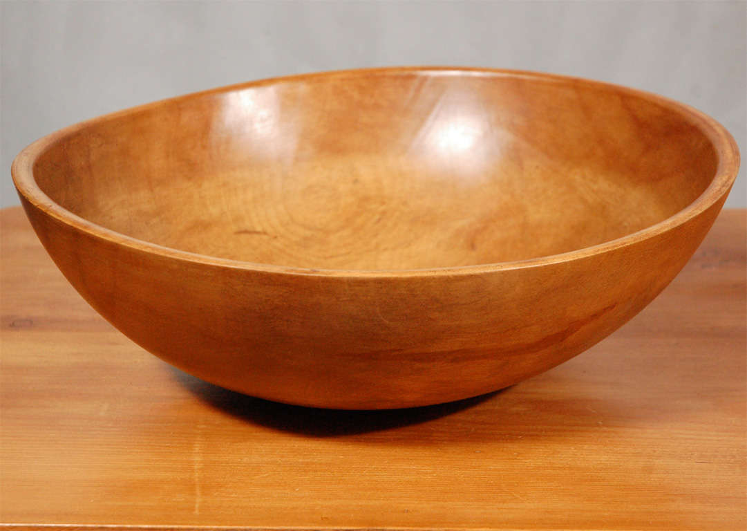 Wooden Dining Bowls ~ Large antique turned wood bowl at stdibs