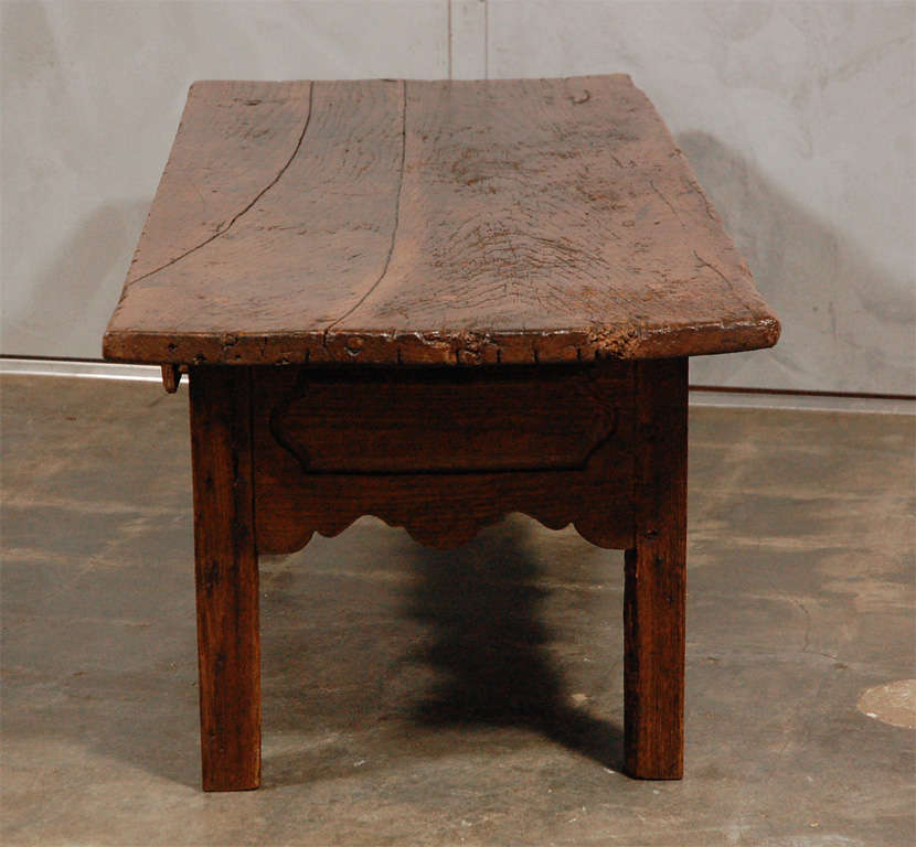 Antique French Country Coffee Table With Drawer At 1stdibs