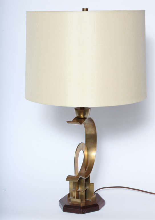 American Modernist 1920s Art Deco Sculptural Table Lamp 3