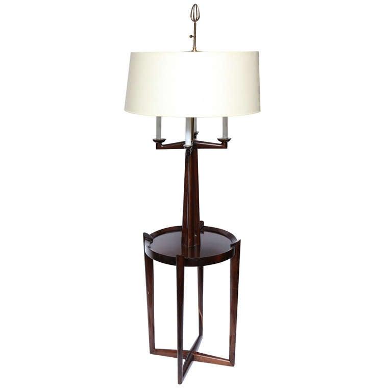 1940 39 s italian art moderne floor lamp with shelf at 1stdibs. Black Bedroom Furniture Sets. Home Design Ideas