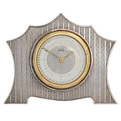 Art DecoSterling Silver Table Clock