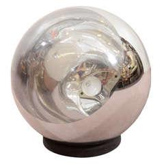 Mid-Century Mirrored Hanging Globe Pendant