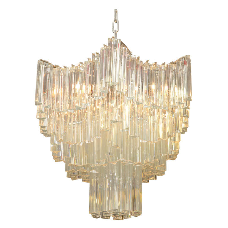 """Mid Century """"Pagoda"""" Form Chandelier by Venini at 1stdibs"""