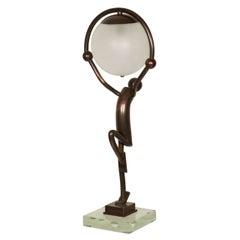 Great 1930s Juggler Table Lamp
