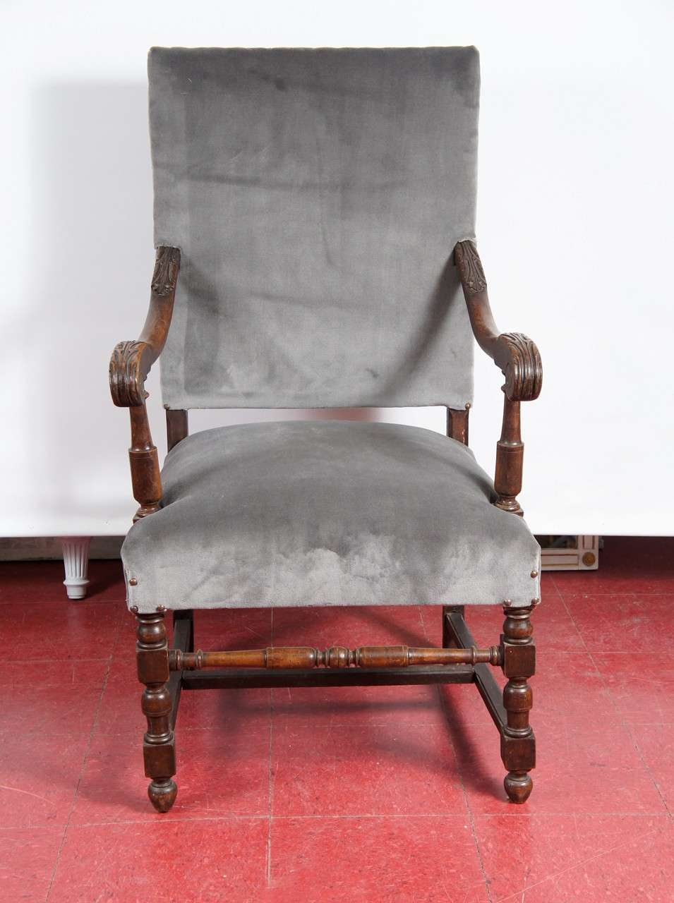 Antique louis xiv chair - Louis Xiv Style Throne Arm Chair 2