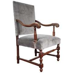 Louis XIV Style Throne Arm Chair