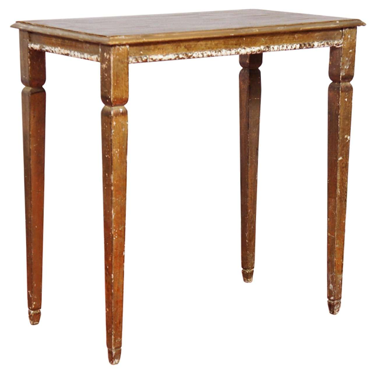 Small gilded side table at 1stdibs for Tiny side table