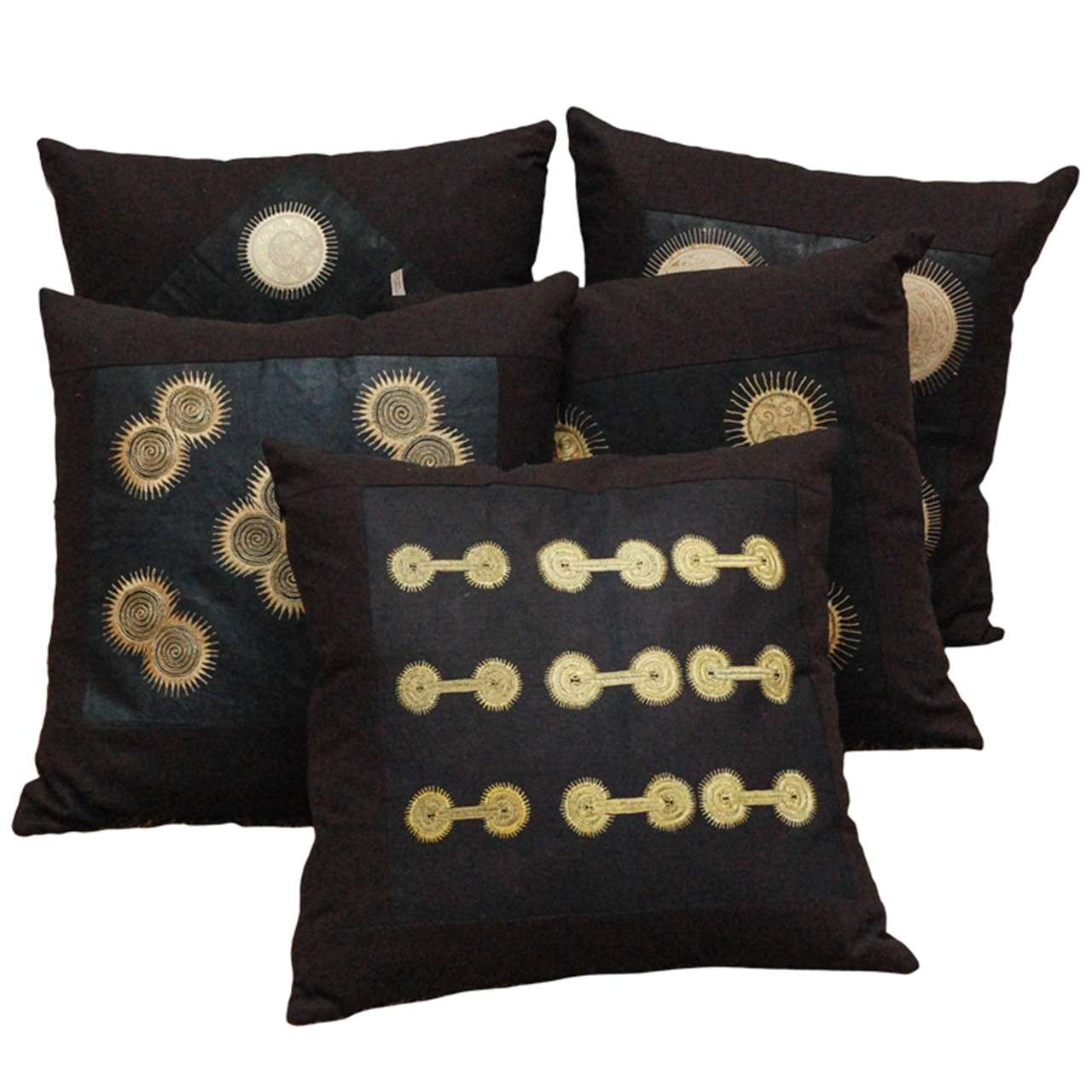 Vintage Southeast Asian Dong Textile Pillows