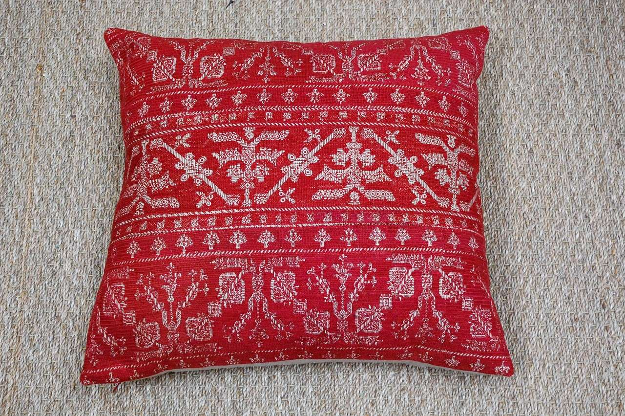 Antique Azemmour Moroccan Embroidered Pillows 2