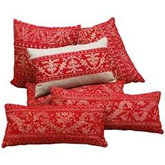 Antique Azemmour Moroccan Embroidered Pillows