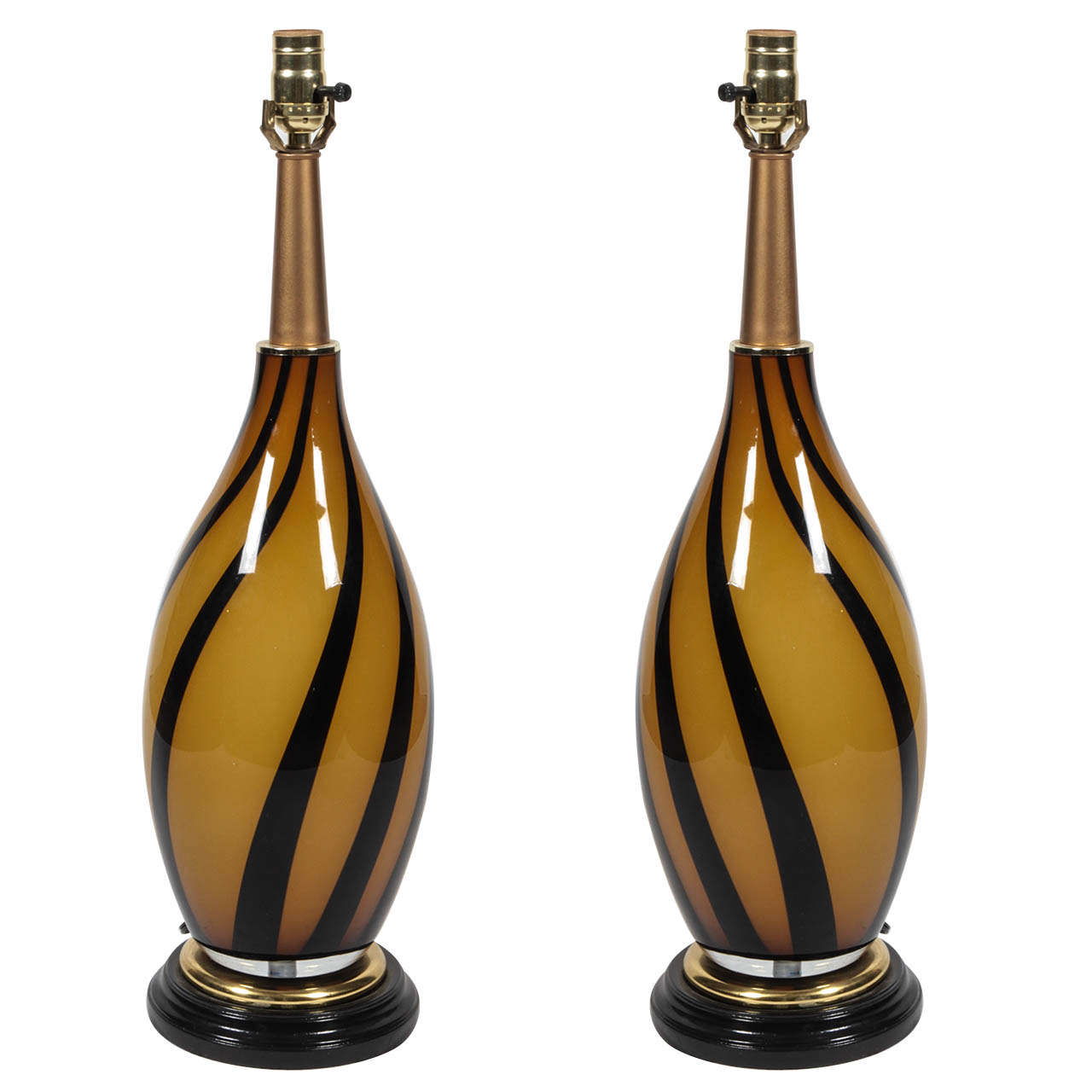 pair of murano glass table lamps for sale at 1stdibs. Black Bedroom Furniture Sets. Home Design Ideas