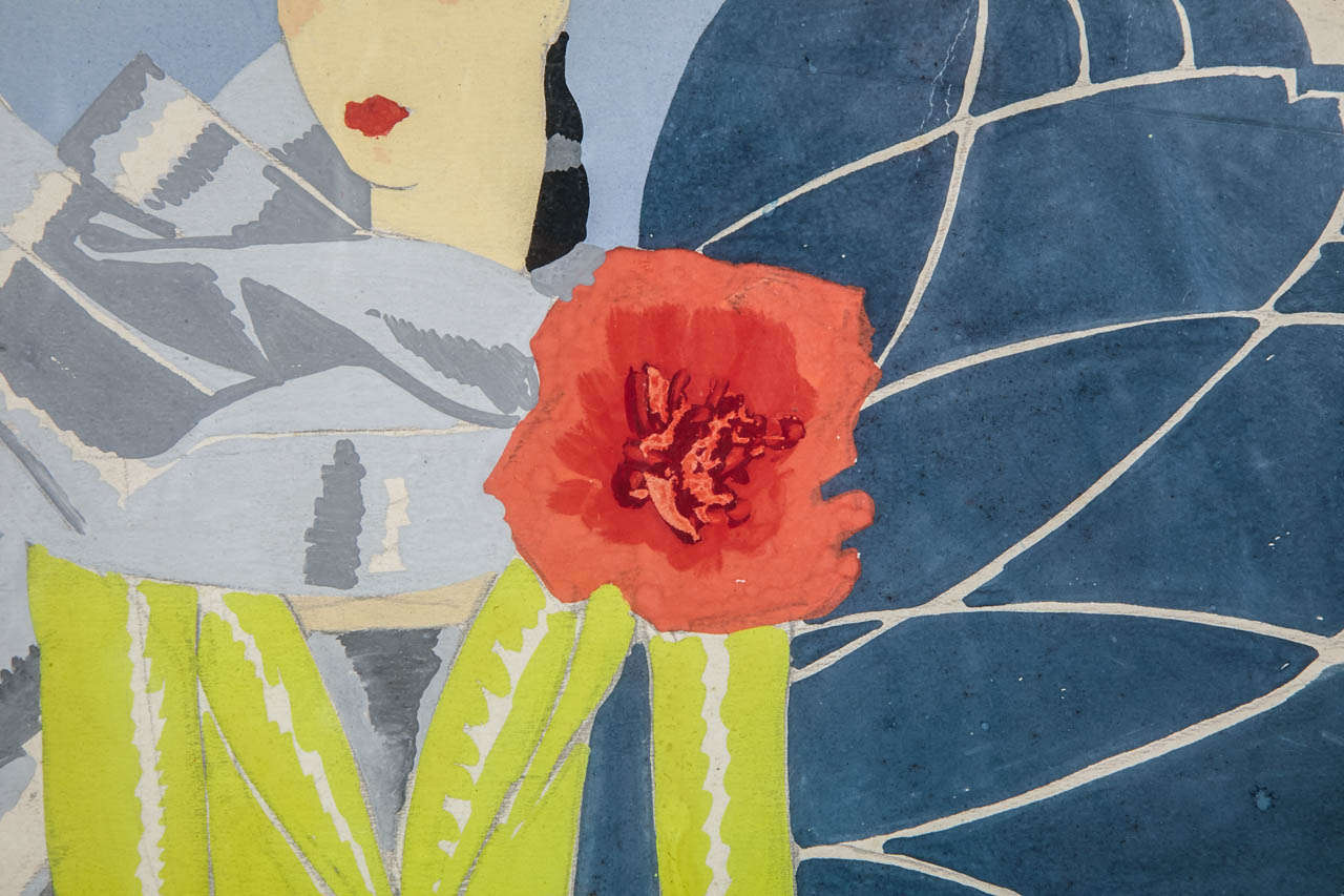 20th Century Circa 1925 Oirignal Watercolor for a Perfume Advertising Project by Pera For Sale