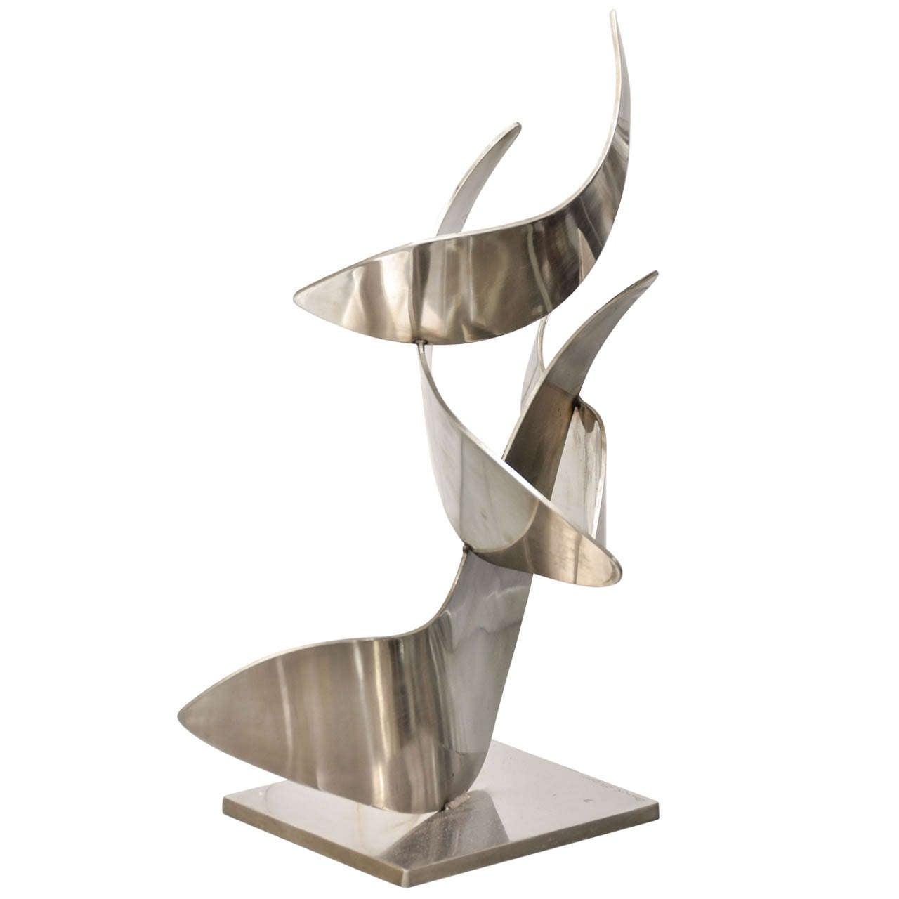 Harry bertoia furniture - Stainless Steel Sculpture At 1stdibs