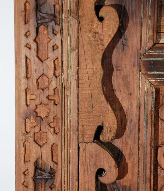 Moroccan Antique Door Carved with Arabic Calligraphy Writing 9