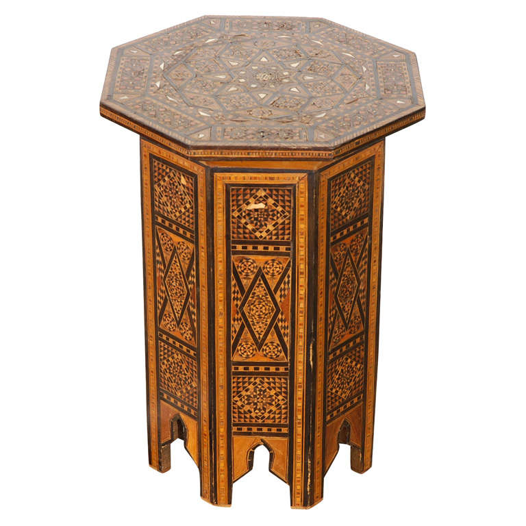 19 th century octagonal levantine syrian inlaid side table for Table th href