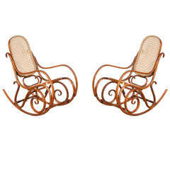 Pair of Thonet Bentwood Rocking Chairs