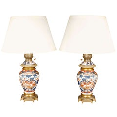 Antique Pair of Imari Lamps