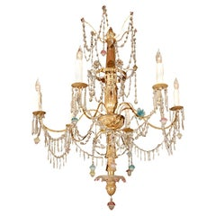 Genovese, Giltwood and Crystal Chandelier