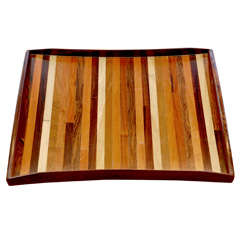 Don Shoemaker mix wood serving tray