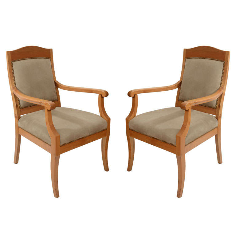Pair of Jugend Stil Salon Chairs